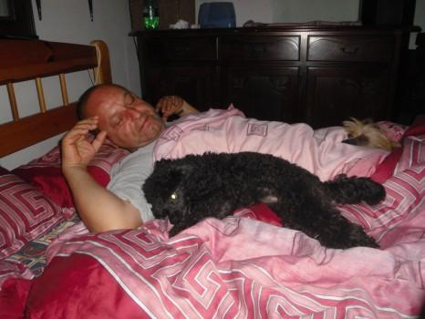 Spával samozrejme s nami, Hugo ho k nám pustil